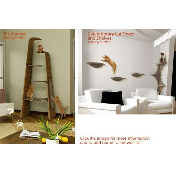 Modern Cat Furniture From The Refined Feline :: Cat Towers And Trees .
