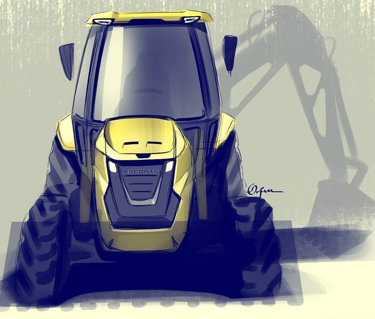 Backhoe loader  By @arjun.kurunji | India Good work Love the colours and shadows What you all think ? Give your views  Contact us for Design solutions Tag @niwwrd to get fetaured Or email us your best work #cardesignsketch#cardesign#carsketch#transportationdesign#ds#automotive#automotivedesign#cardesigner#exteriordesign vehicledesign#cardesigner#transportdesign#suv#supercar#supercars#inspiration#voiture#offroad#mechanics#offroadlife#automotivede…