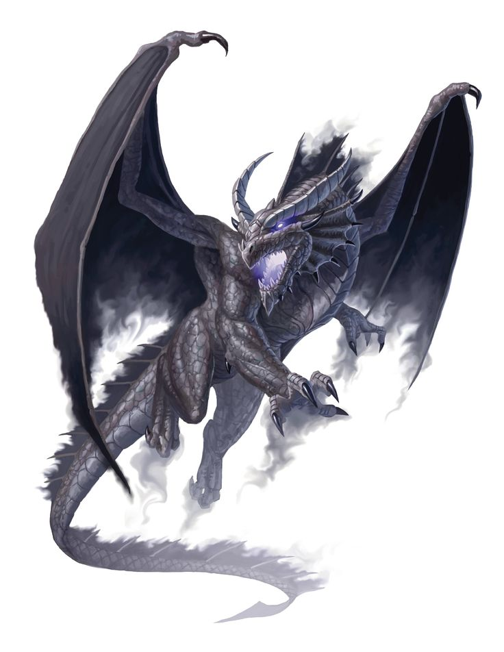 Dragon, Shadow (from the D&D fifth edition Monster Manual). Art by Craig J. Spearing.