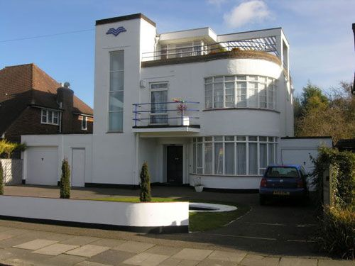 Art deco house in Luton, Bedfordshire - Not to everyone's taste, but I'm not everyone!