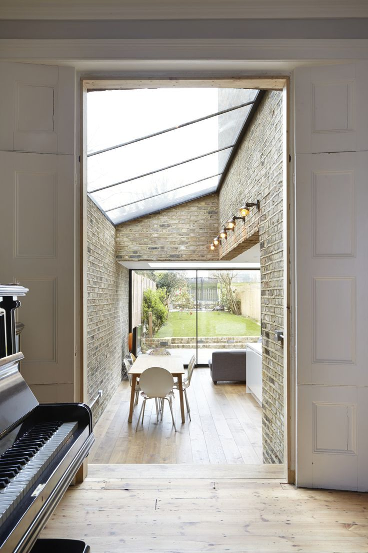 glass extension in allerton road by douglas architects