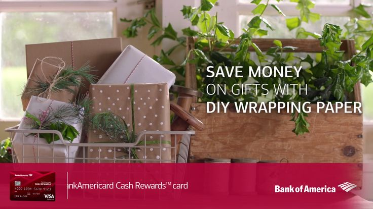 Try DIY wrapping paper for a personal touch this holiday season—with a tutorial from design and home experts Erin and Ben Napier. Plus, earn cash back on supplies with the BankAmericard Cash Rewards™ credit card. Learn more.