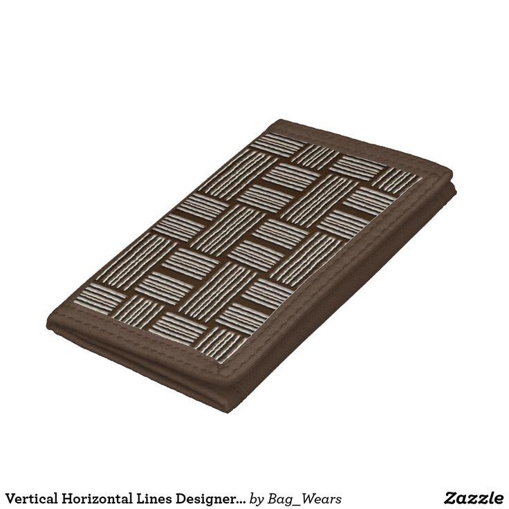Vertical Horizontal Lines Designer Modern Wallet https://www.zazzle.com/bag_wears/products?rf=238136051362953437
