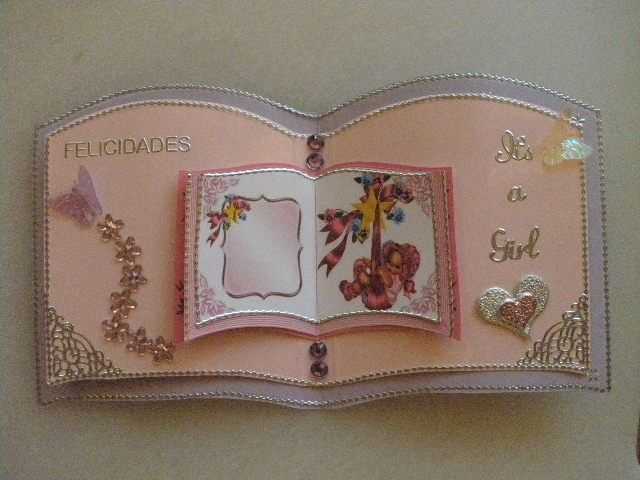 Baby card, using bookatrix
