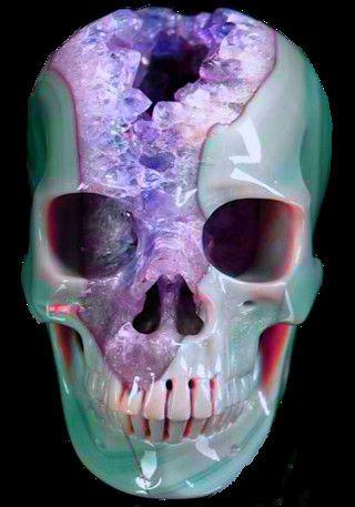Transparent Pastel Skull / Crystal Quartz / Pastel Goth
