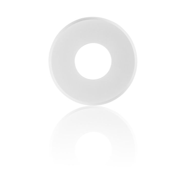 #EzClipse low profile magnetic cover for recessed lighting shown in circular shape in White http://www.ezclipse.com/collections/recessed-lighting-conversion-low-profile/products/recessed-lighting-covers-round-5-inch