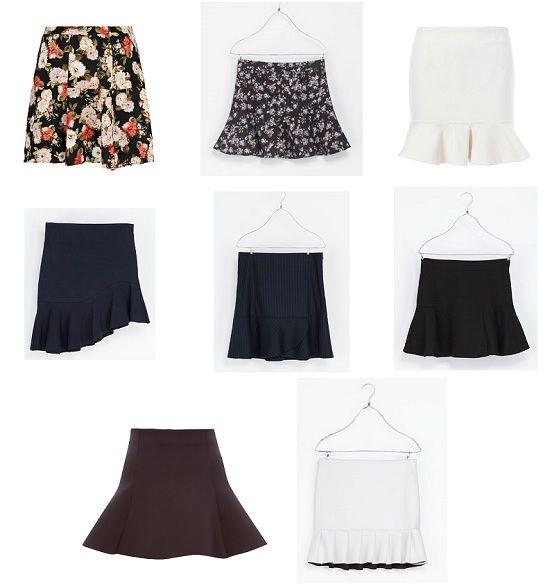 faldas de moda para la temporada de otoño