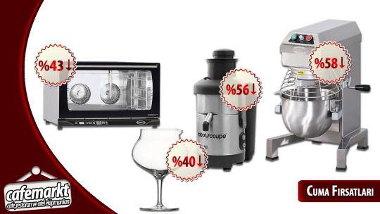 Cafemarkt'ta Cuma Fırsatı! En kaliteli markaları herzaman en iyi fiyatlar ile alıcısına sunan Cafemarkt şimdide muhteşem cuma indirimleri ile geliyor. Tıklayın fırsatı kaçırmayın. http://www.cafemarkt.com/firsatlar #Cafemarkt #CumaFırsatı #Fırsat #İndirim #Discount #Kampanya #Ucuz #Ucuzluk #indirimyağmuru #Robotcoupe #Öztiryakiler #Spiegelau #Unox #Rosella #Fırın #UnoxFırın #EndüstriyelFırın #Mikser #PlanetMikser #MeyveSıkacağı #KatıMeyvePresi #Karaf #Sürahi