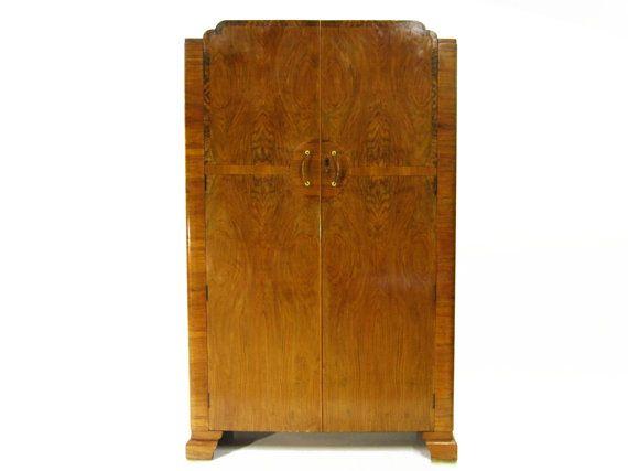 Antique Art Deco Armoire  baby stuff  Pinterest  Shelves, Wardrobes and Be -> Deco Armoire Métallique Vintage