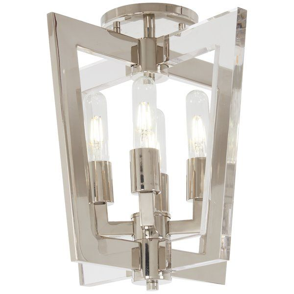 The 4 Light Flush Mount By George Kovacs Is Modern Yet Transitional A Glimpse Into An Elegant Trans Ceiling Lights Ceiling Fixtures Flush Mount Ceiling Lights