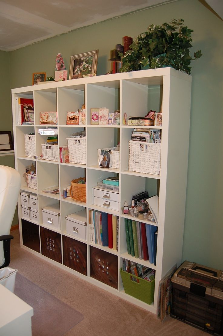 Scrapbook room ideas - Love Ikea For Their Organizing Products These Work So Great In A Scrap Room The Bottom I Have My Kits In The Plastic Bins The Far Left One Is Empty The