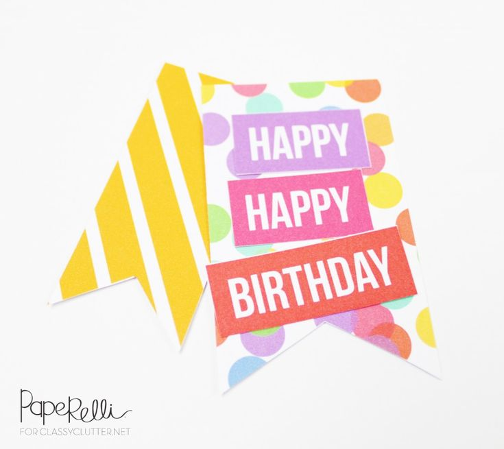 DIY Birthday Tags on Classy Clutter | Designed by Paperelli