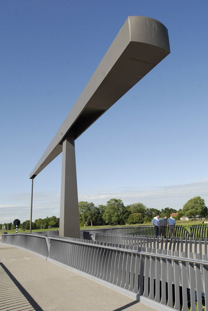 Movable drawbridge in Gorredijk, the Netherlands. Design by ipv Delft.