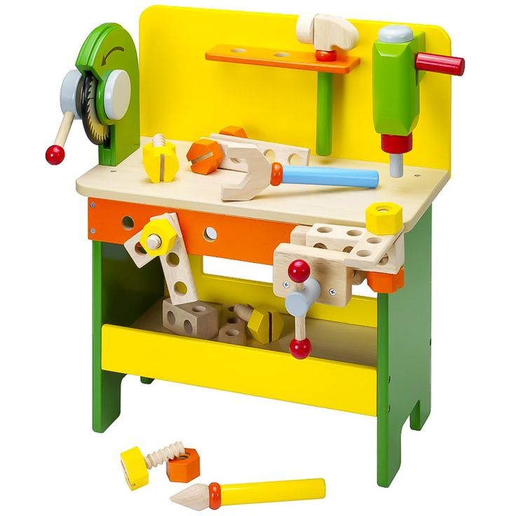 Fa barkácsasztal köszörűvel | Pandatanoda.hu Játék webáruház