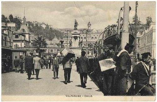 valparaiso 1920,  Estación Puerto, vista desde el muelle de pasajeros