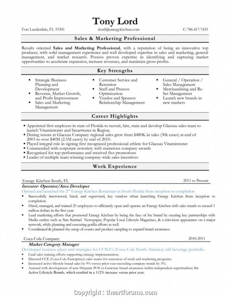 Food and Beverage Manager Resume top Newest Food and