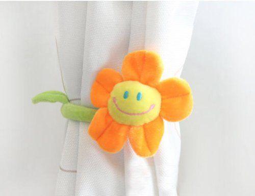 Smile Sunflower Curtain Tieback, Holdback, Curtain Accessory, Decoration, Gift Idea (1-pc) (Orange) Hyzrz http://www.amazon.com/dp/B00E2R3LIK/ref=cm_sw_r_pi_dp_DYD.tb0NNTGVZ