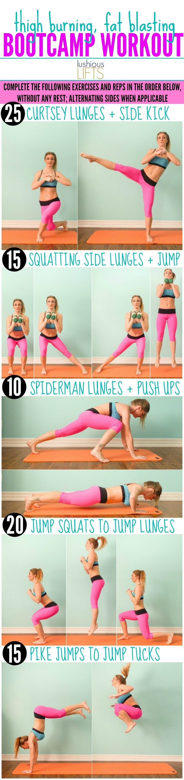 a killer workout for lean thighs {thigh burning, fat blasting, bootcamp workout}
