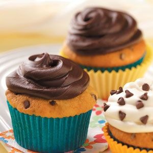 Chocolate Chip Cupcakes Recipe -These crowd-pleasing cupcakes are quick, moist and yummy! —Paula Zsiray, Logan, Utah