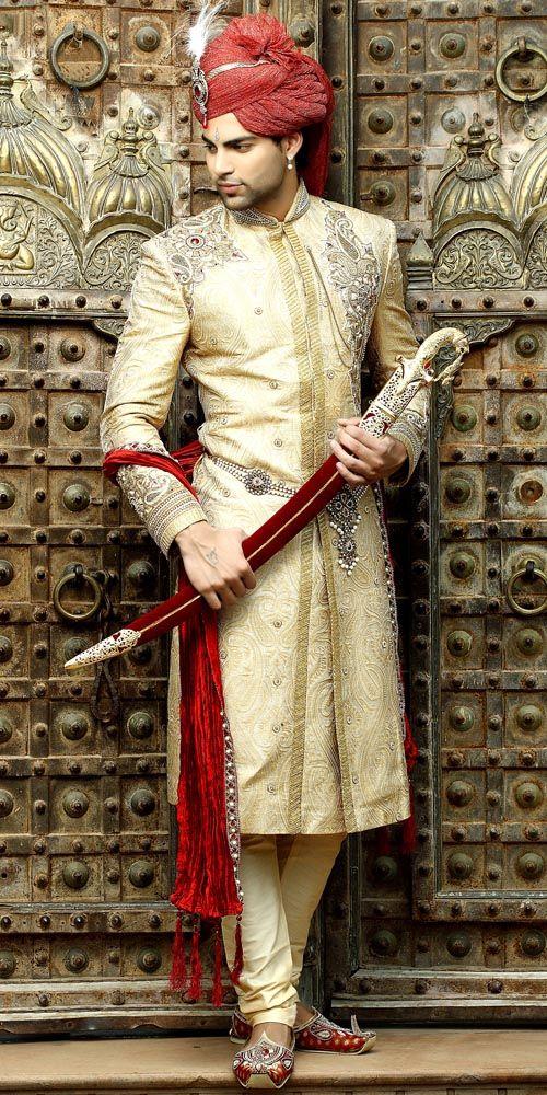 Ethnic Wedding Sherwani  Item code : SSJ8012N