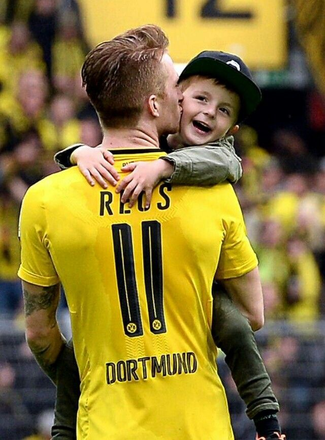 Marco Reus and his nephew Nico                                                                                                                                                      More