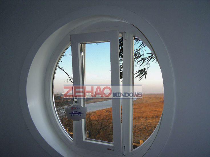 Windows / Round Windows - China PVC Turn and Tilt Windows, Round