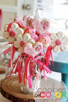 DIY baby shower cookie bouquet