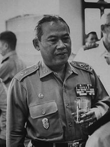 Thanom Kittikachorn 1960 /Field Marshal Thanom Kittikachorn (Thai ถนอม กิตติขจร, Thai pronunciation: [tʰànɔ̌ːm kìttìkʰat͡ɕɔ̌ːn]; August 11, 1911 – June 16, 2004) was a military dictator of Thailand. A staunch anti-Communist, Thanom oversaw a decade of military rule in Thailand from 1963 to 1973, until public protests which exploded into violence forced him to step down. His return from exile in 1976 sparked protests which led to a massacre of demonstrators, followed by a military coup.