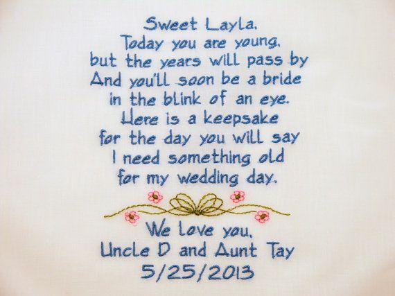 17 Best Embroidered Flower Handkerchiefs Hankerchiefs Wedding Bridal Shower Poems
