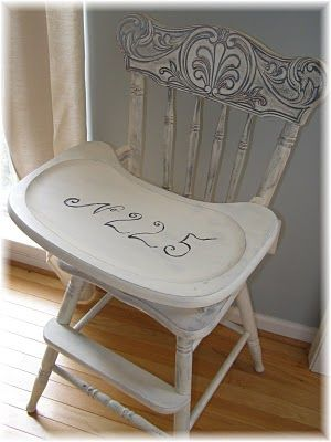 Painted high chair from Musings from a French Cottage.