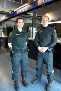 Finnish border security officers work uniforms Rajavartiolaitos