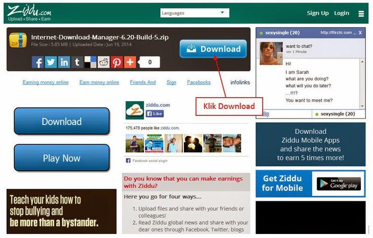 Coretan Terbaru: Cara Daftar dan Download File di Ziddu