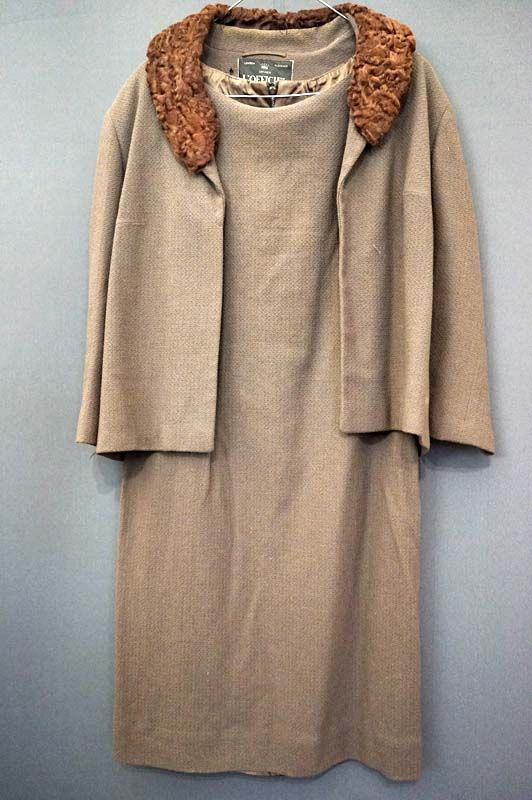 1960's woollen L'Officiel suit for sale in the Mabs Collection