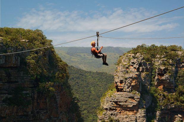 Ziplining adventures at Oribi Gorge, South Africa. Get your adrenaline rush in beautiful surroundings.