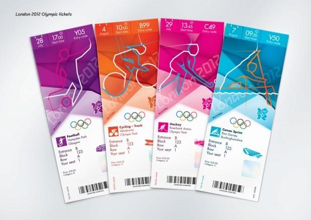 Diseño de las entradas en Londres 2012