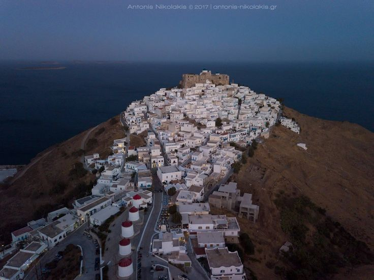When night is falling at Astypalaia's Chora...  → www-astypalaia-island.gr/astypalaia-chora  Photo: Antonis Nikolakis Photography