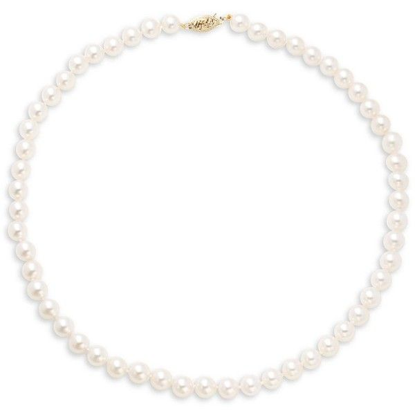 Tara Pearls 6.5-7MM Pearl Necklace ($1,003) ❤ liked on Polyvore featuring jewelry, necklaces, white pearl jewelry, beaded jewelry, round necklace, pearl necklaces and hook necklace