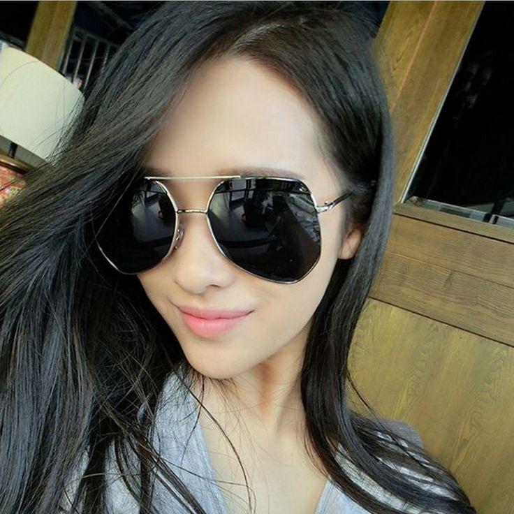 2017 Mirrors Flat Lens Fashion Women Retro Sunglasses Coating Fashion Frame Sun Glasses Eyewear Men Gafas Oculos G755
