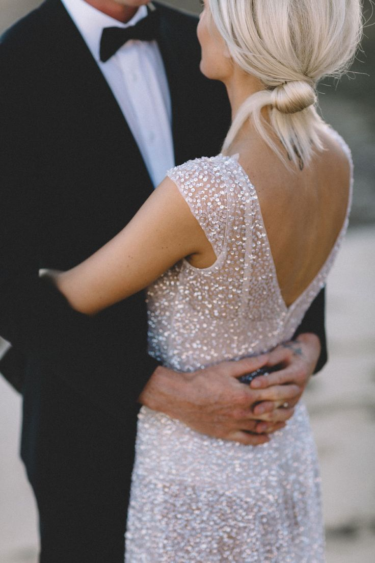 Anna Campbell | Hand-sequinned wedding dress