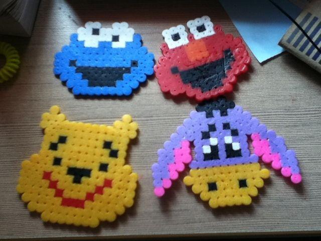 Micimackó, Füles, Elmo és Cookie Monster! :D   Elkészítenéd valamelyiket? Rendelj hozzá díszdobozos gyöngyöket! http://on.fb.me/1cc0O7O
