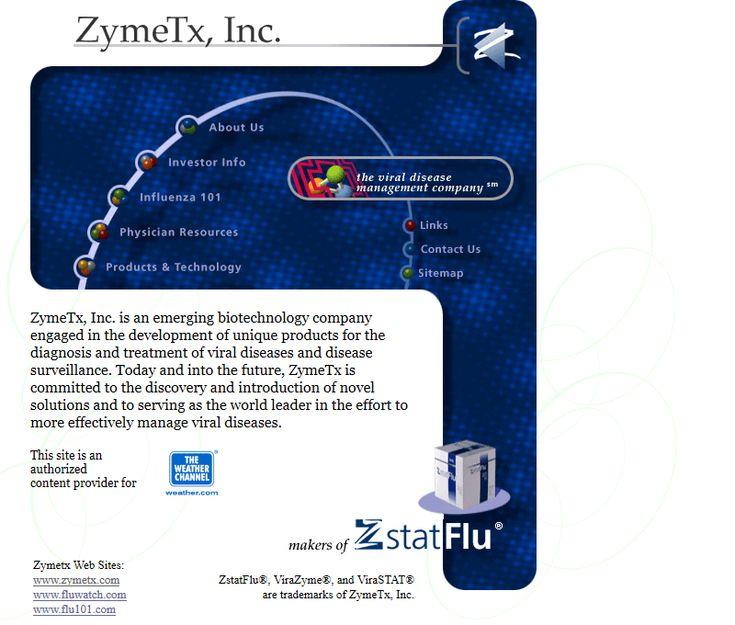 ZymeTx website in 2001