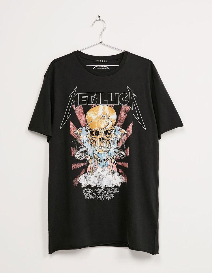 Camiseta 'Metallica' - Camisetas - Bershka Mexico