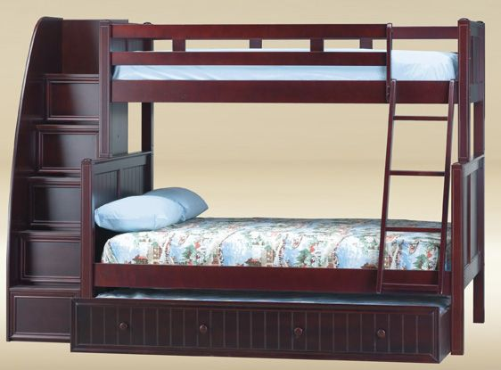 dillon twin over full bunk bed with stairs