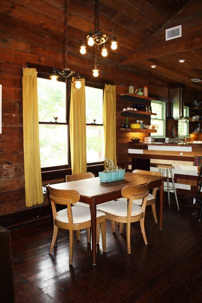 Erins Warm Wood Wrapped Austin Budget Bungalow House Tour