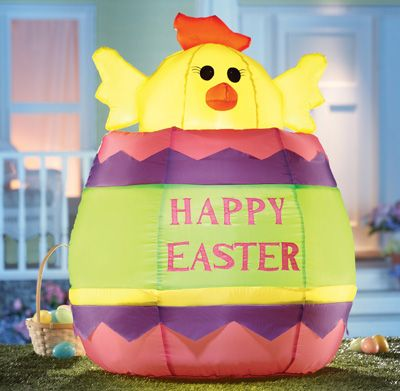 Inflatable Happy Easter Chickadee Egg Yard Home Holiday Decoration NEW