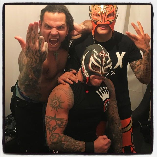 Jeff Hardy, Rey Mysterio and Fenic
