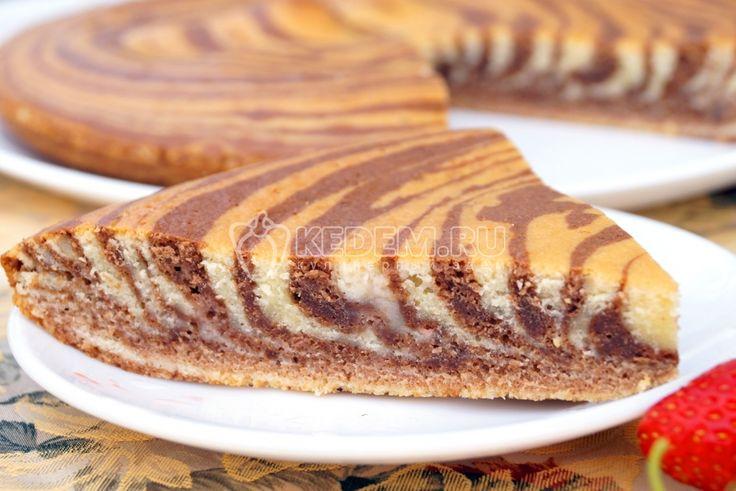 Этот полосатый кекс можно приготовить как для повседневного чаепития, так и для праздничного стола. Очень простой в приготовлении, приятно удивит гостей и порадует домашних.