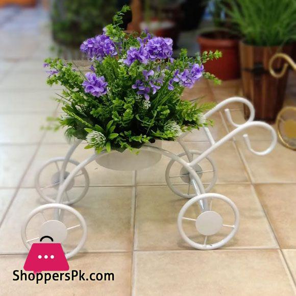 Buy Artifical Flower Metal Cycle Flower Pot 619 2 At Best Price In Pakistan Flower Pots Table Flower Arrangements Flowers