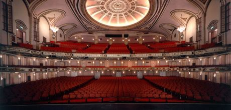 Interior of the Cadillac Palace Theatre, view from stage. I'm seeing phantom of the opera here next month!