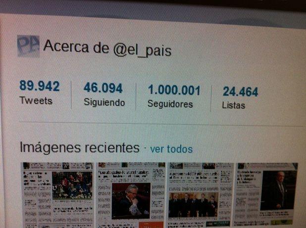 yo quiero tener un millón de amigos. Felicidades a @El_Pais.
